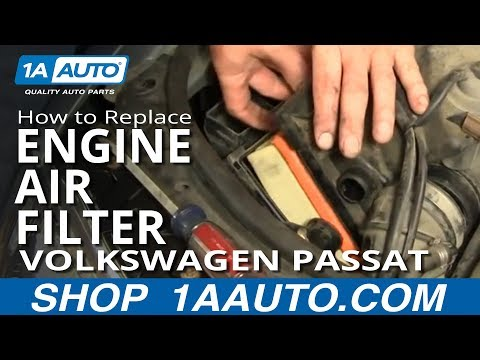 How To Replace Engine Air Filter 02-05 Volkswagen Passat