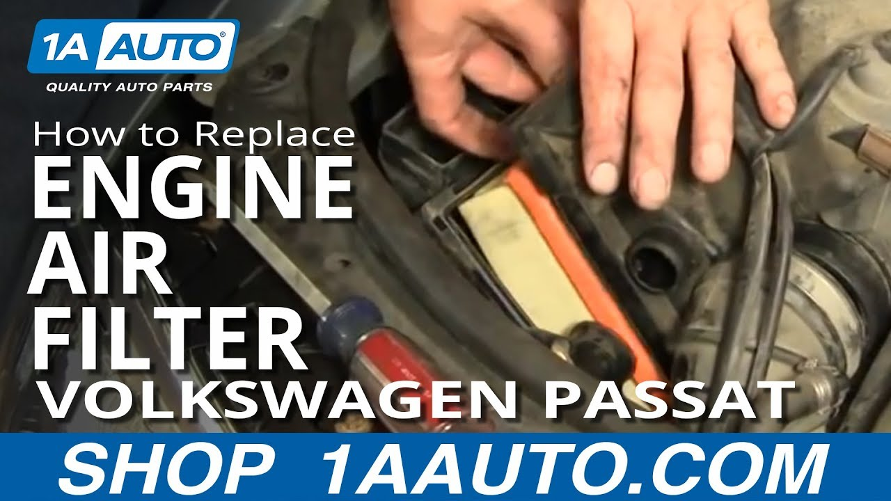 2004 Vw Passat Engine Diagram Opinions About Wiring Volkswagen Diagrams How To Install Replace Air Filter 02 05 1aauto Com Youtube 18