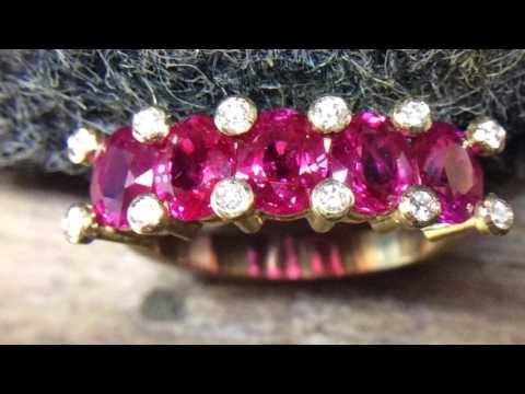 Ruby Gemstone 2.53 ct.Diamond Ring Ravishing RedColor Top Full Fire&Eye Clean Beautiful Color