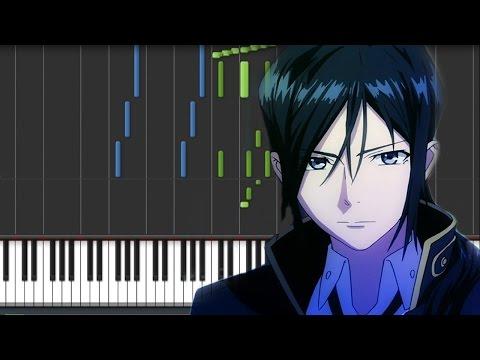 K Project (アニメ「K」) OST - Yatogami Kuroh (Piano Synthesia Tutorial + Sheet)