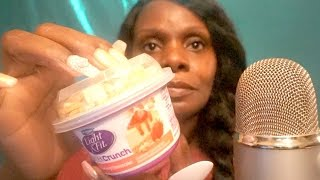 Yogurt ASMR Eating Sounds/Cheese Cake