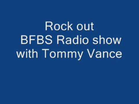 Tommy Vance rock out BFBS radio show