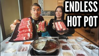 ALL YOU CAN EAT HOT POT VS PRO EATER | Spicy Chinese Hot Pot | Man Vs Food