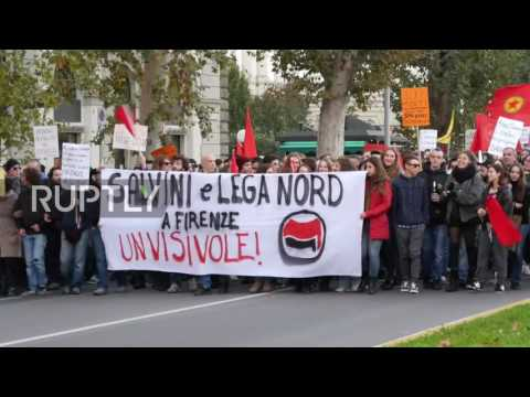 Italy: 12,000 attend Lega Nord rally in Florence against upcoming referendum