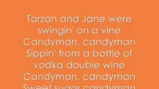 Candy Man - Christina Aguilera (Lyrics, On screen!!)