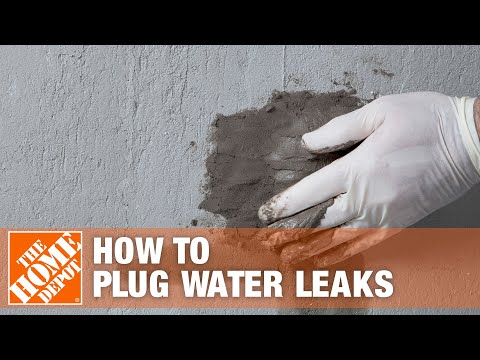 How To Stop A Leak Using Sakrete Stopper Hydraulic Cement The Home Depot