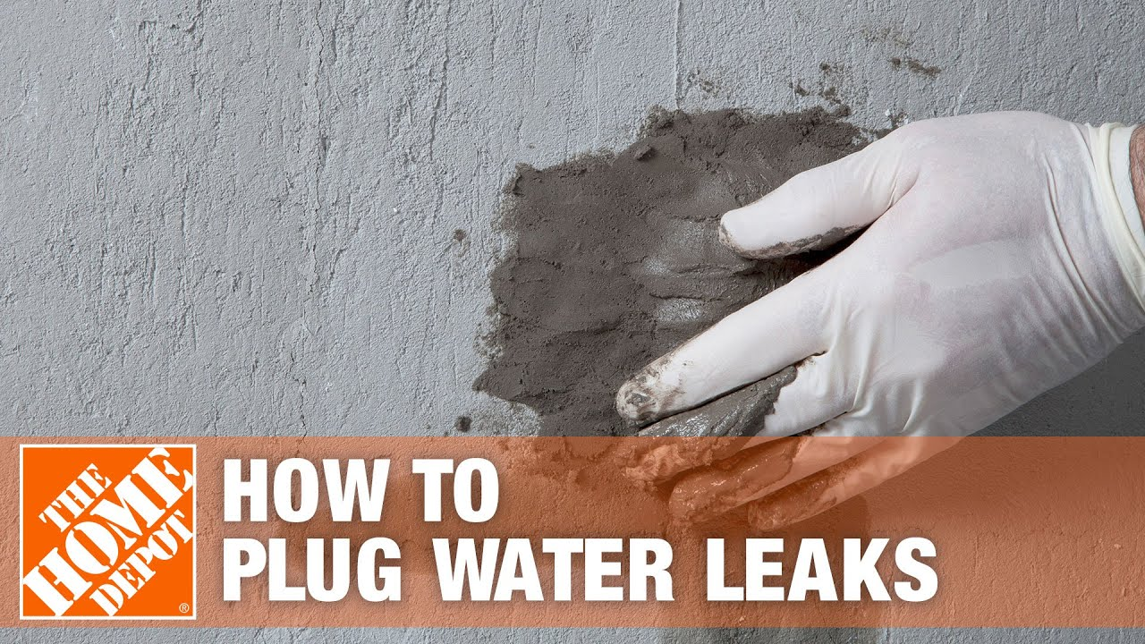 How to Stop A Leak Using Sakrete Leak Stopper Hydraulic Cement | The Home  Depot