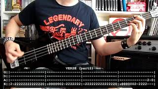 TWISTED SISTER - Lookin' out for #1 (bass cover w/ Tabs)