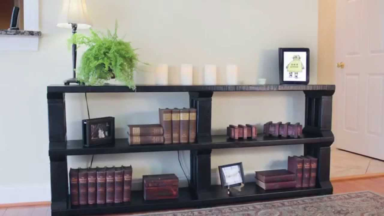 Rustic Book Shelf or TV stand YouTube – Tv Stand Bookcase