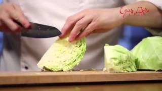 Видео рецепт о том, как правильно шинковать капусту(, 2015-09-24T11:05:01.000Z)
