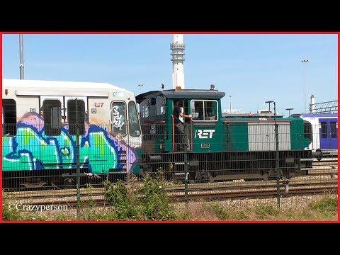 RET Locomotive + SG2 metro vehicle 5234 depot Waalhaven! With Horn