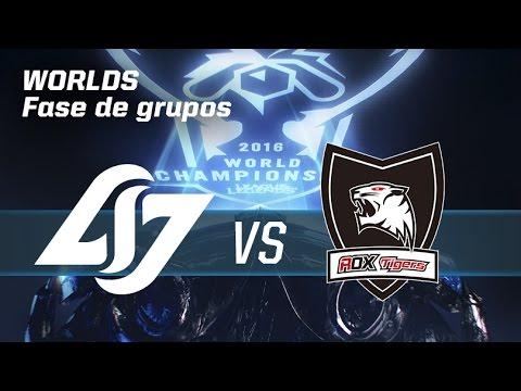 COUNTER LOGIC GAMING VS ROX TIGERS - #worldsLVP4 - World Championship 2016 - Fase De Grupos 4
