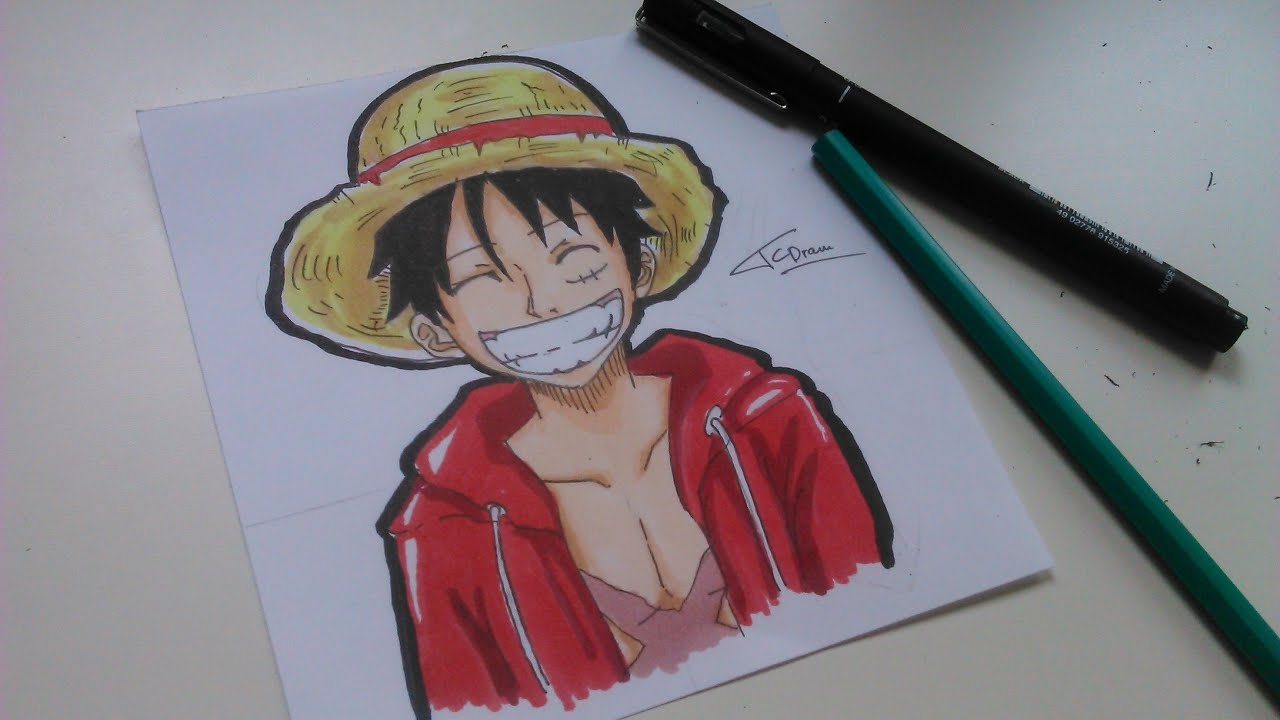 How to draw luffy comment dessiner luffy one piece - Comment dessiner luffy ...
