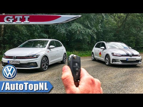 2018 VW Polo GTI vs Golf GTI REVIEW POV Test Drive by AutoTopNL