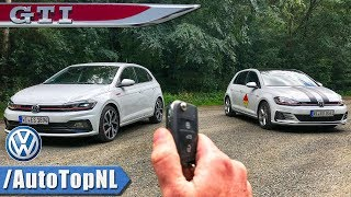 Download Video 2018 VW Polo GTI vs Golf GTI REVIEW POV Test Drive by AutoTopNL MP3 3GP MP4