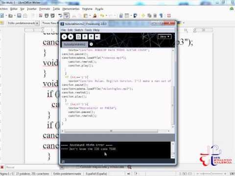 Videotutorial de Processing 3: reproduciendo sonidos MP3