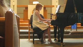 2018 piano recital