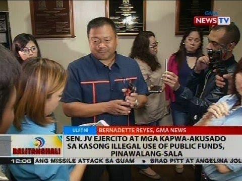 BT: Sen. JV Ejercito at mga kapwa-akusado sa kasong illegal use of public funds, pinawalang sala