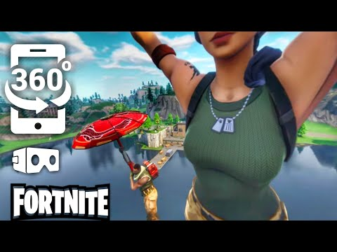 Fortnite VR 360 Video SkyDiving #1 for Google Cardboard VR BOX 360 Virtual Reality VIDEOS 360° VR 4K