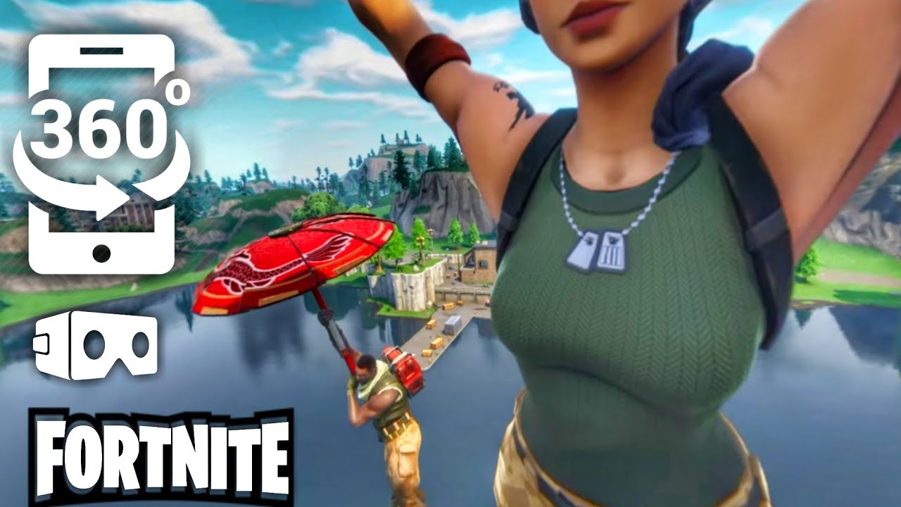 Sky Diving in Fortnite but it's VR 360 degree interactive