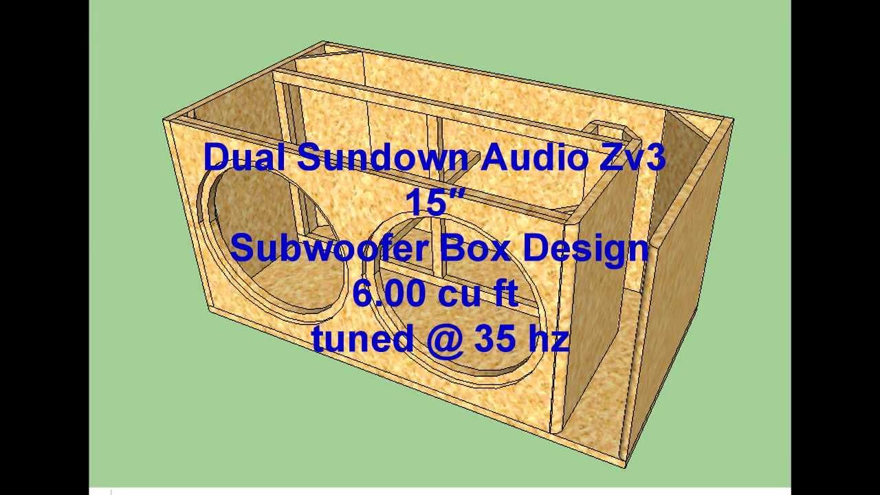 Dual Sundown Audio Zv3 15 Subwoofer Box Design Youtube