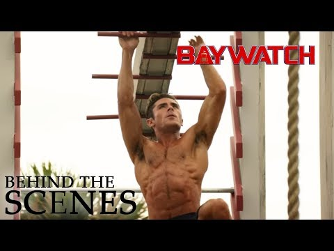 Thumbnail: BAYWATCH | Zac and Dwayne on Obsticle Course | Official Behind the Scenes