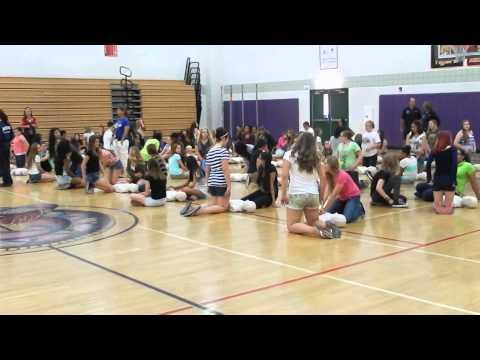 Mesa Fire teaches hands-only CPR to Desert Ridge Junior High School students