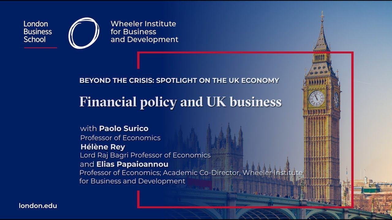 Financial Policy And Uk Business London Business School Youtube