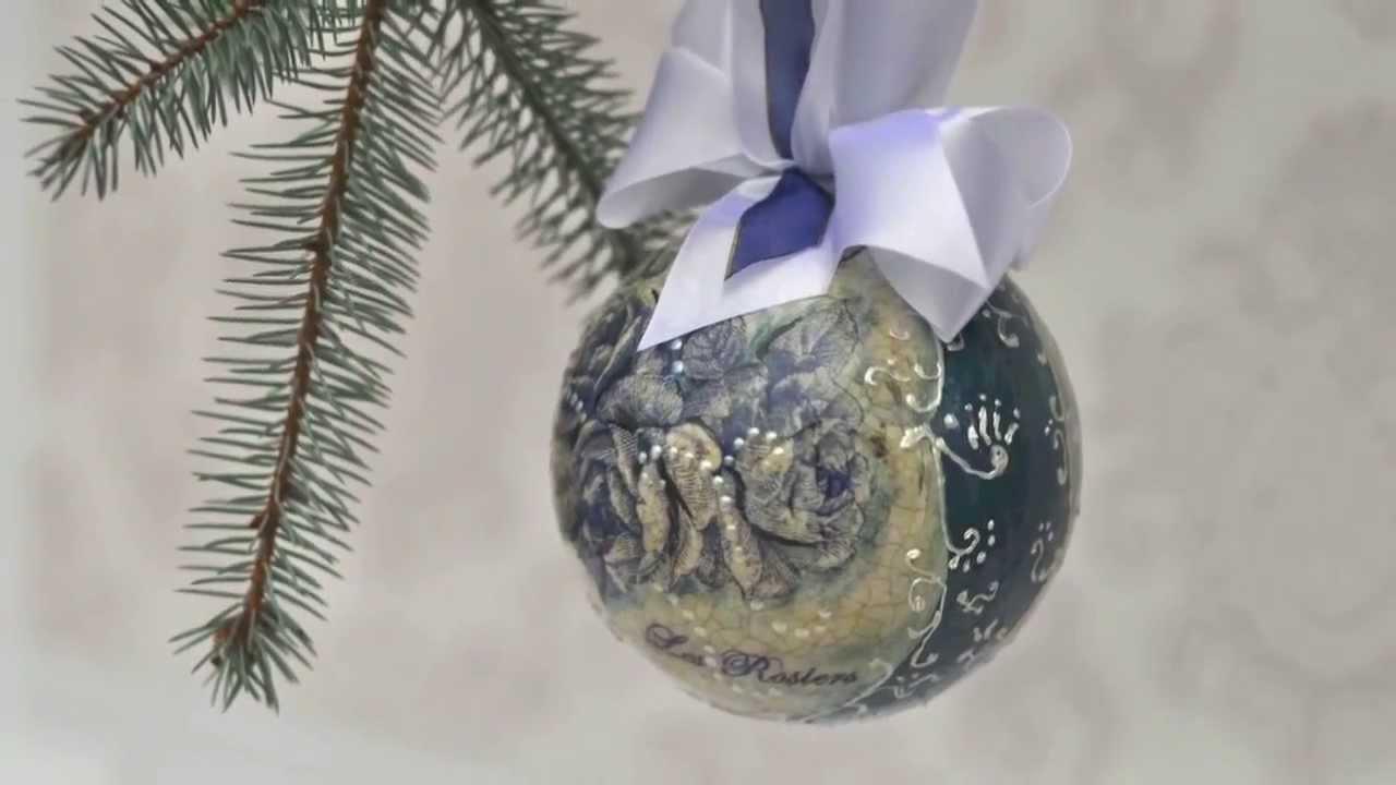 Новогодние шары с Евгенией Захаровой 23.11.17 - YouTube