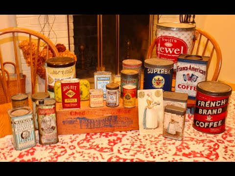 Collecting Antique Kitchen Advertising Tins by Dealer Deanna Moyers
