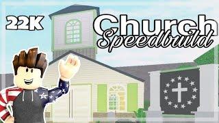 Roblox Bloxburg | 22K Church Speedbuild
