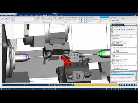 VERICUT CNC Simulation of a Doosan Puma TT 1800 SY