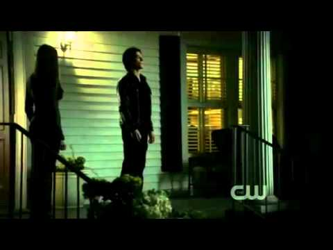 damon and elena's first official kiss