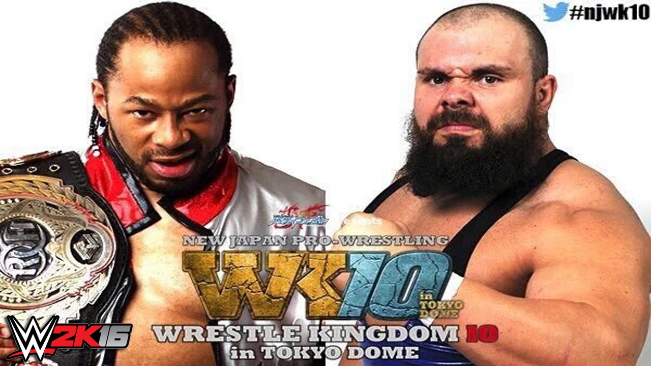 NJPW Wrestle Kingdom 10 - Jay Lethal vs Michael Elgin (ROH World Championship) - WWE 2K16