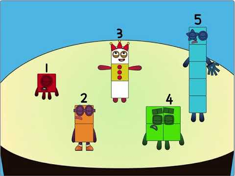 Numberblocks Band but everyone is dancing like three