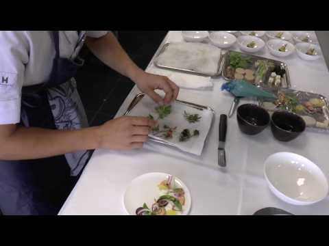 Syrco Bakker prepares a dish at Pure C in The Netherlands