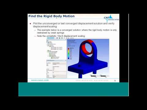 Assembly Modeling | ANSYS e-Learning | CAE Associates