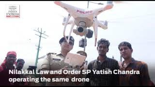 WATCH   Kerala police operating drone surveillance at Nilakkal, Sabarimala