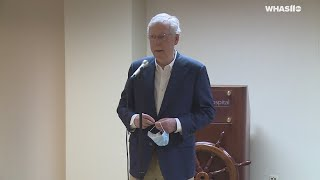 RAW: Senate Majority Leader Mitch McConnell answers question on protest at Daniel Cameron's home