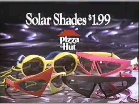 1990 Pizza Hut Back to the Future Solar Shades