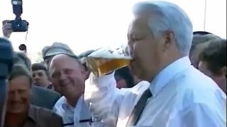 Best of drunk Boris Yeltsin!(The best youtube compilation of Boris Yeltsin's funniest moments on TV. Drinking vodka and beer, singing and stumbling..., 2014-04-07T23:43:37.000Z)