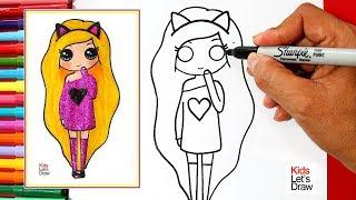 Aprende a dibujar una CHICA TUMBLR con BRILLANTINA | How to Draw a Glitter Tumblr Girl