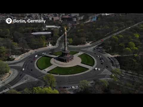 A 10-minute drone flyover across a virtually empty Europe during lockdown