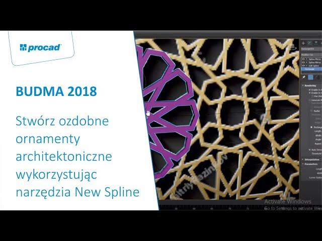 Stwórz ozdobne ornamenty architektoniczne wykorzystując narzędzia New Spline w 3ds Max 2018