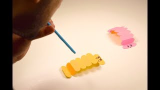 Walking Silkworm | Paper Insect | Blowing Origami Animal