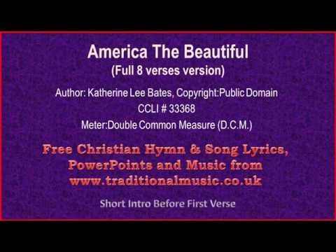 America The Beautiful(with full 8 verses) - Hymn Lyrics & Orchestral Music