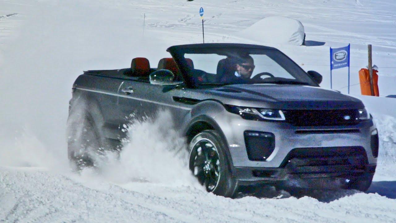 Range Rover Evoque Convertible on Snow