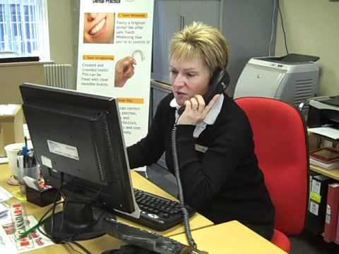 Jacky the caring dental receptionist - YouTube