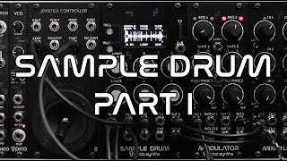Erica Synths Sample Drum demo (part 1)