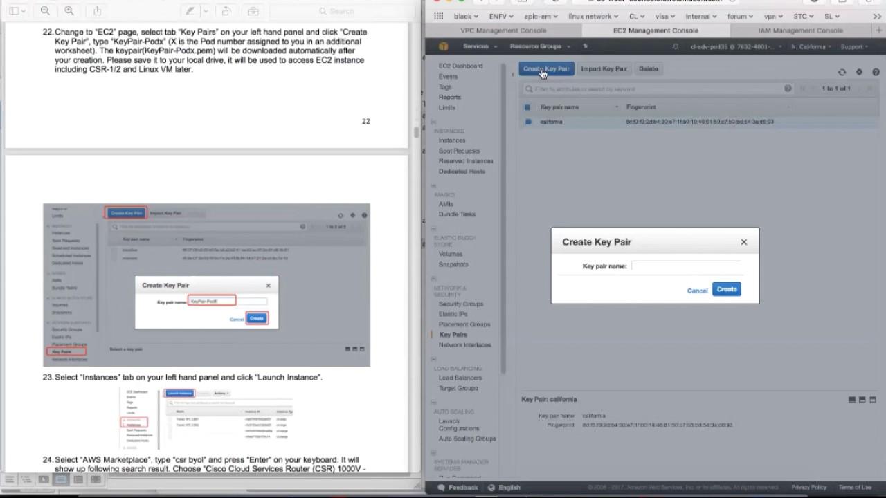AWS VPC Gateway Redundancy with Cisco CSR1000v - Module 1 1